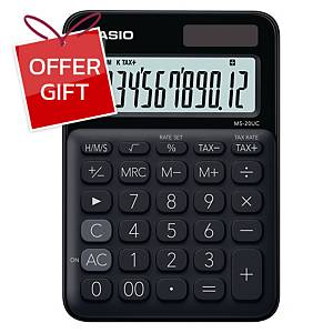 CASIO Ms-20Uc Desktop Calculator 12 Digits Black
