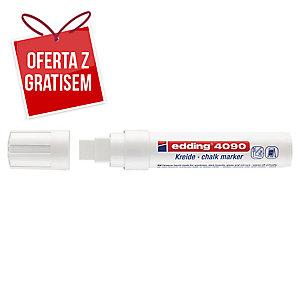 Marker kredowy EDDING 4090, ścięta końcówka, biały