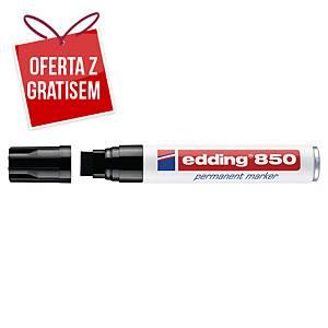 Marker permanentny EDDING 850, ścięta końcówka, czarny