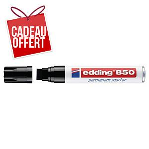 Marqueur permanent Edding 850 - pointe biseautée 5 à 16 mm - noir