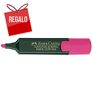 Marcador fluorescente FABER-CASTELL Textliner 48 color rosa