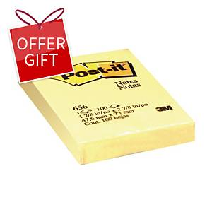 Post-it 656 Yellow Notes 2 inch x 3 inch