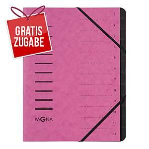 Ordnungsmappe Pagna 40059, 12 tlg., mit Gummizug, pink