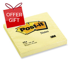POST-IT NOTES CANARY YELLOW 76X76MM - PACK OF 12 PADS