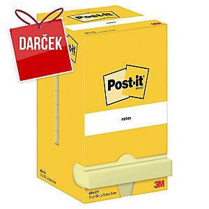 3M Post-it® 654 Samolepiace bločky 76x76mm, žlté, bal. 1 bloček/100 lístkov