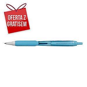 Automatyczny długopis UNI SXN-101FL Jetstream, wkład niebieski, błękitna obudowa