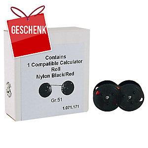 Kompatibles Farbband für Tischrechner GR51 schwarz/rot