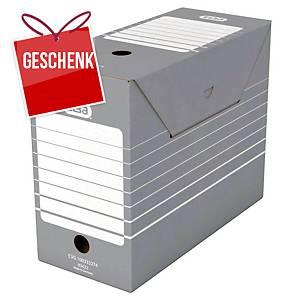 Archivschachtel Elba, Innenmasse B110xT340xH270 mm, grau, Pk. à 10 Stk.