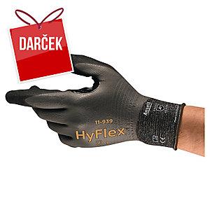 Protiporézne a olejuodolné rukavice Ansell HyFlex® 11-939, veľkosť 9