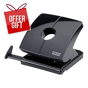 NOVUS B 225 2-HOLE PAPER PUNCH BLACK - UP TO 25 SHEETS
