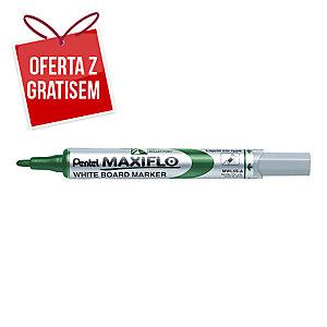 Marker suchościeralny PENTEL Maxiflo MWL5S, okrągła końcówka, zielony