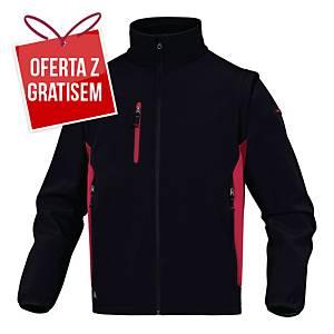 Kurtka Softshell DELTA PLUS MYSEN2, czarno-czerwona, rozmiar XL