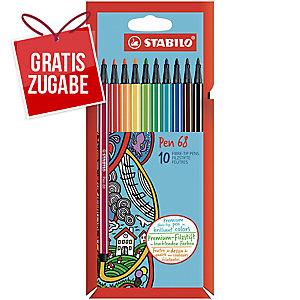 Faserschreiber Schwan Stabilo Pen 6810PL, Strichstärke: 1mm, sortiert, 10 Stück