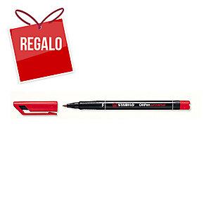 Rotulador permanente de retroproyección STABILO OH Pen color rojo 0,7mm