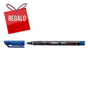 Rotulador permanente de retroproyección STABILO OH Pen color azul 0,7mm