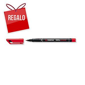 Rotulador permanente de retroproyección STABILO OH Pen color rojo 0,4mm