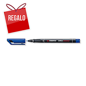 Rotulador permanente de retroproyección STABILO OH Pen color azul 0,4mm