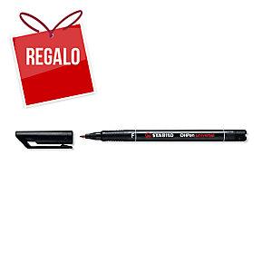 Rotulador permanente de retroproyección STABILO OH Pen color negro 0,4mm