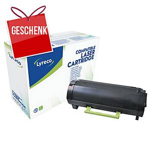 LYRECO kompatibler Lasertoner LEXMARK 50F2000 schwarz