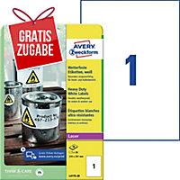 Folien-Etiketten Avery Zweckform L4775-20 210x297mm weiß 20 Blatt/20 Etiketten