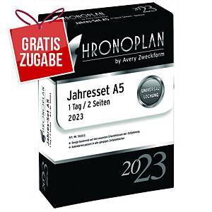 Jahresset 2020 Chronoplan 50200, 1 Tag / 2 Seiten, A5, incl. Archivbox