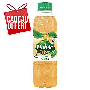 Eau Volvic Touche de thé - thé vert menthe - 50 cl - pack de 12 bouteilles