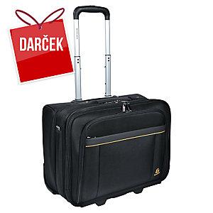 Cestovný kufor na kolieskach s priestorom na notebook 15,6  čierny
