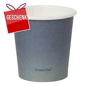 Trinkbecher ecoecho, 12 cl,  Packung à 50 Stück