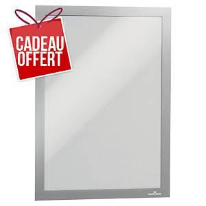 Cadre d affichage Durable Duraframe - A4 - adhésif - argenté - paquet de 10
