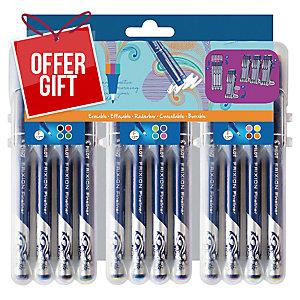 Wallet of 12 Pilot Frixion Fineliner 12 Colour Pens