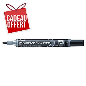 Marqueur Pentel Maxiflo Flex-Feel - effaçable à sec - pointe Flex - noir