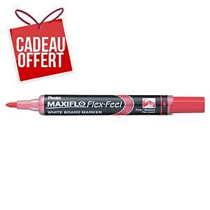 Marqueur tableau blanc Pentel Maxiflo Flex-Feel - pointe Flex - rouge