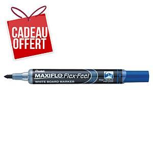 Marqueur tableau blanc Pentel Maxiflo Flex-Feel - pointe Flex - bleu