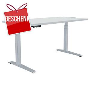 Fellowes Levado E-Schreibtisch, 140 x 80 cm, weiß