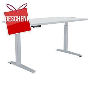 Fellowes Levado E-Schreibtisch, 160 x 80 cm, weiß