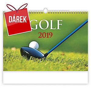 Golf - měsíční mezinárodní kalendárium, 14 listů, 48,5 x 34 cm