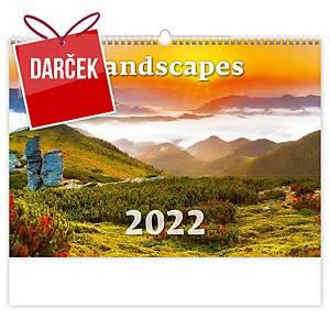 Landscapes - mesačné medzinárodné kalendárium, 14 listov, 45 x 31,5 cm