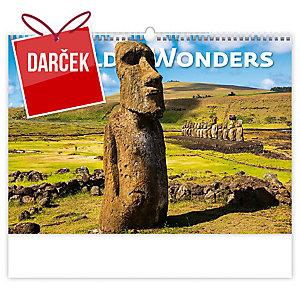 World Wonders  - mesačné medzinárodné kalendárium, 14 listov, 45 x 31,5 cm