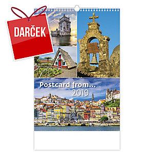 Postcard from… - mesačné medzinárodné kalendárium, 14 listov, 31,5 x 45 cm