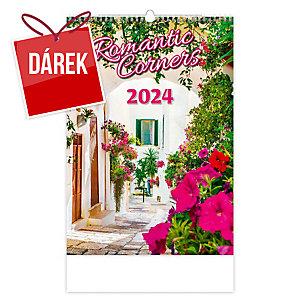Romantic Corners - měsíční mezinárodní kalendárium, 14 listů, 45 x 31,5 cm