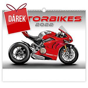 Motorbikes - měsíční mezinárodní kalendárium, 14 listů, 45 x 31,5 cm