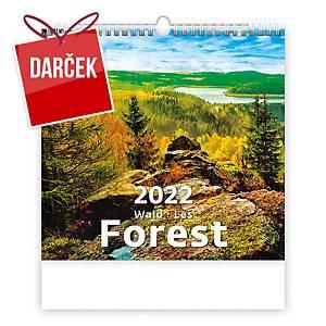 Les - mesačné medzinárodné kalendárium, 14 listov, 34 x 32,5 cm