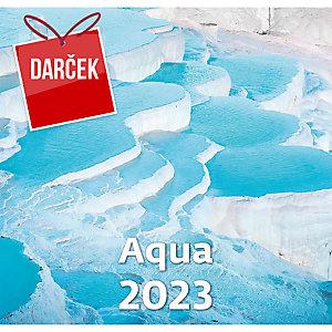 Aqua - mesačné medzinárodné kalendárium, 14 listov, 34 x 32,5 cm