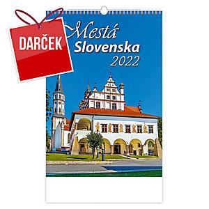Mestá Slovenska - slovenské mesačné menné kalendárium, 14 listov, 45 x 31,5 cm
