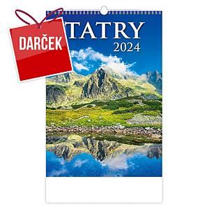 Tatry - slovenské mesačné menné kalendárium, 14 listov, 31,5 x 45 cm