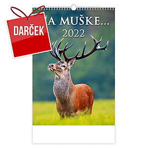 Na muške… - slovenské mesačné menné kalendárium, 14 listov, 31,5 x 45 cm