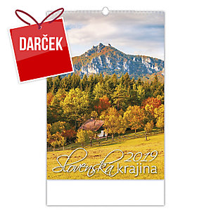 Slovenská krajina - slovenské mesačné menné kalendárium, 14 listov, 31,5 x 45 cm
