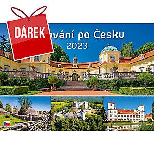 Putování po Česku - české měsíční jmenné kalendárium, 14 listů, 45 x 31,5 cm