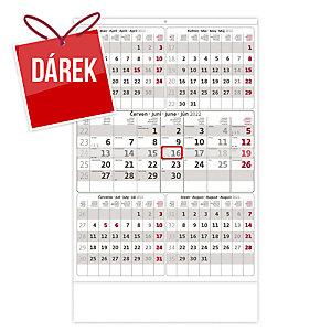 Pětiměsíční šedý - české kalendárium, 12 listů, 31,5 x 45 cm