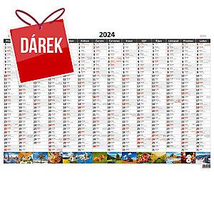Plánovací roční mapa A1 obrázková, české kalendárium, 1 list, 88 x 64 cm